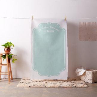 Custom Wedding Photo Backdrop - Mr. & Mrs. Mint Fabric