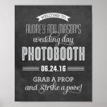 Custom Wedding Photo Booth Sign | Black Chalkboard Print