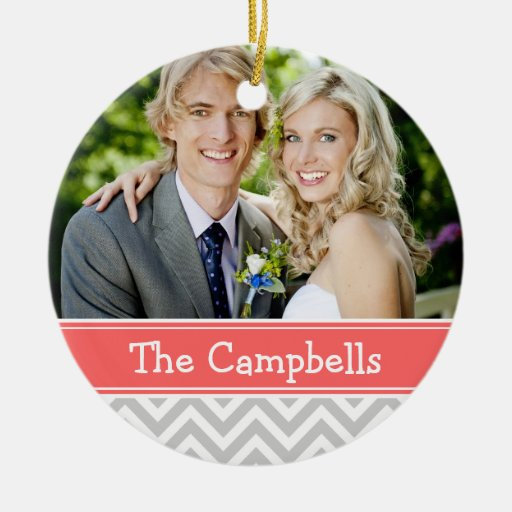 Custom Wedding Photo Keepsake Holiday Ornament