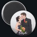 "Custom Wedding Photo Love Magnet<br><div class=""desc"">Custom Wedding Photo Love Magnet</div>"