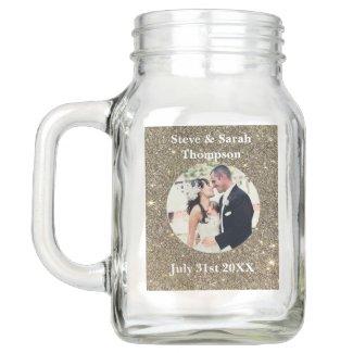 Custom Wedding Photo Mason Jar