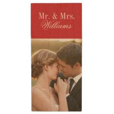 Custom Wedding Photo Monogram USB Flash Drive at Zazzle