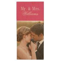 Custom Wedding Photo Monogram USB Flash Drive