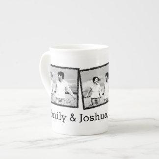 Custom wedding photo mug Save the date Tea Cup