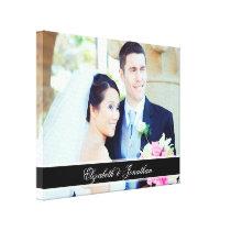 Custom Wedding Photo Personalized Canvas Art