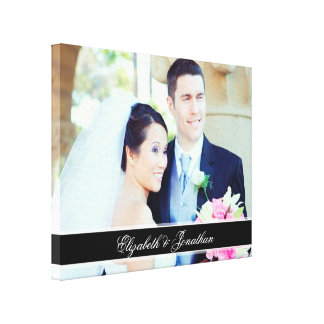 Custom Wedding Photo Personalized Canvas Art Stretched Canvas Prints