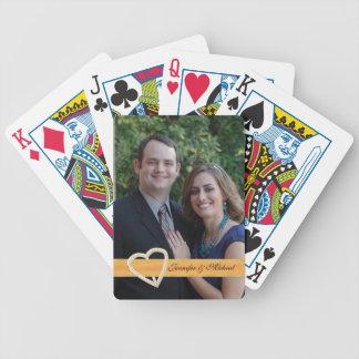 Custom Wedding Photo Playing Cards