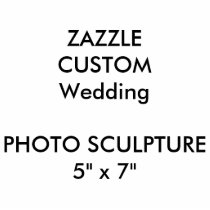 "Custom Wedding Photo Sculpture 5"" x 7"""