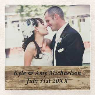 Custom Wedding Photo Table Coasters