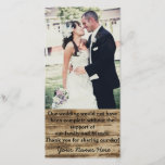 """Custom Wedding Photo Thank you Cards<br><div class=""""desc"""">Add a personal touch to your wedding thank you card by adding your own wedding picture. Keep the thank you message the same or personalize it with your own message. Add your names at the bottom of the card.</div>"""