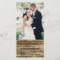 Custom Wedding Photo Thank you Cards