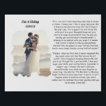 """custom wedding photo with wedding vows minimalist faux canvas print<br><div class=""""desc"""">Custom Photo Watercolor effect border ,  Custom With Your Wedding Song Lyrics or Wedding Vows</div>"""