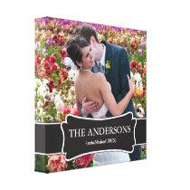 Custom Wedding Photo wrapped canvas