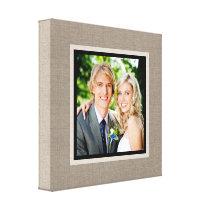 Custom Wedding Photo Wrapped Canvas Art