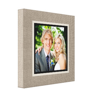 Custom Wedding Photo Wrapped Canvas Art