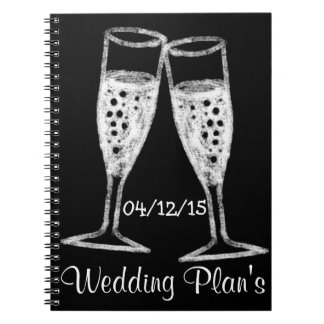 Custom Wedding Planning Notebook with Wedding Date