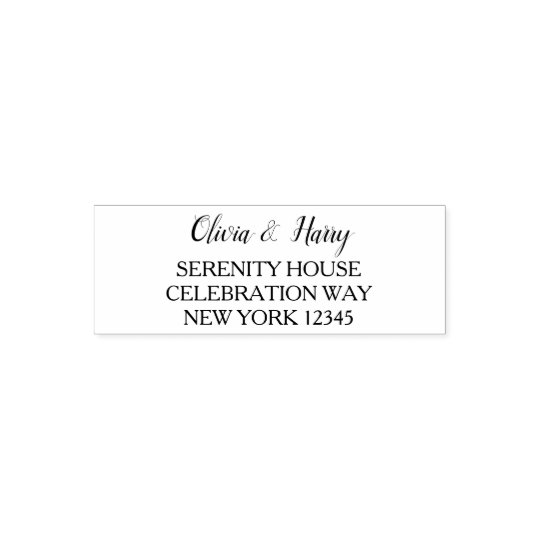 custom wedding return address self inking stamp zazzle com