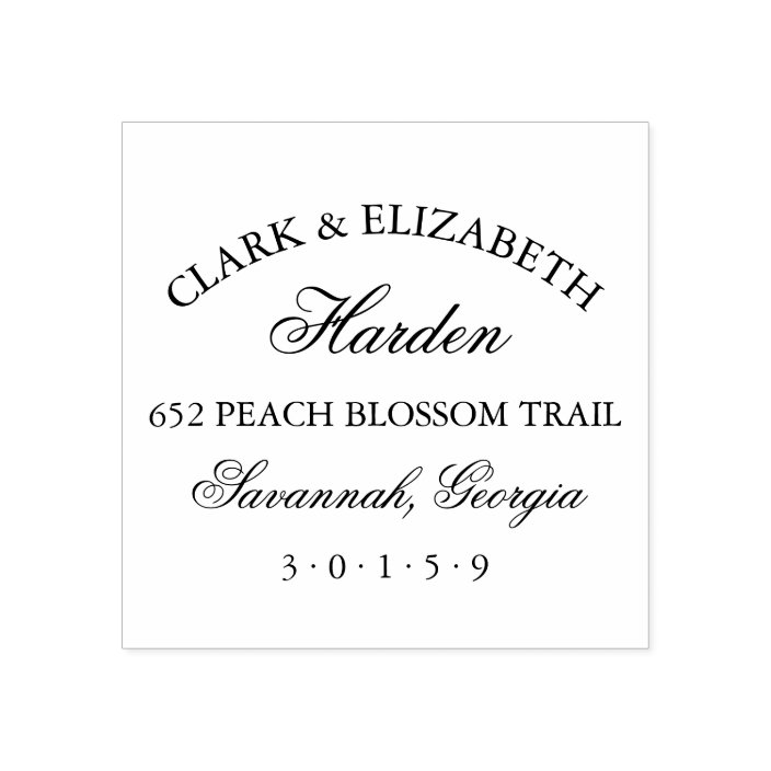 Custom Wedding Return Address Stamp