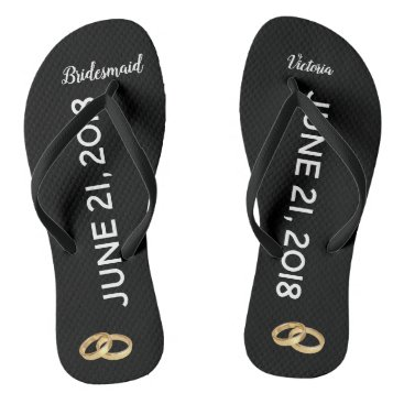Custom Wedding Ring Bridesmaid Bridal Flip Flops