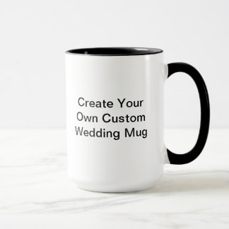 Custom Wedding Ringer Mug
