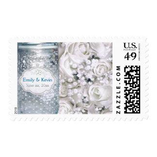 Custom Wedding Roses & Mason Jar Postage