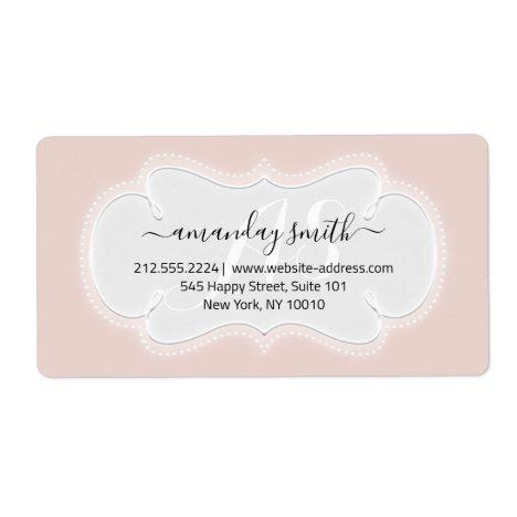 Custom Wedding RSVP Bridal Sweet 16th Rose Blush Label