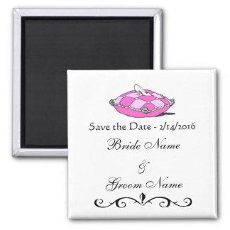 Custom Wedding Save the Date Cinderella Slipper Magnet