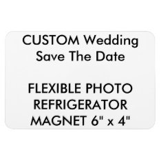 Custom Wedding Save The Date Photo Fridge Magnet at Zazzle