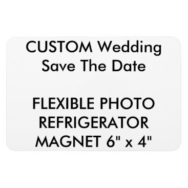 PersonaliseMyWedding Custom Wedding Save The Date Photo Fridge Magnet