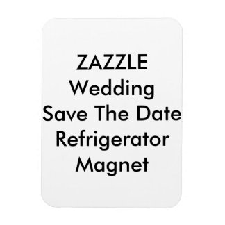 Custom Wedding Save The Date Refrigerator Magnet
