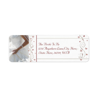 Custom Wedding Shower Return Address Labels
