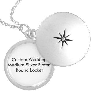 Custom Wedding Silver Plated Locket Tenplate