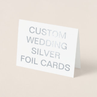 Custom Wedding Small Personalized Silver Foil Card