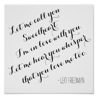 Custom wedding song lyrics quote add your own poster