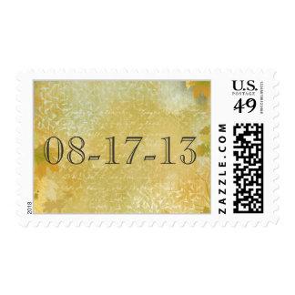 Custom wedding stamp for outdoor wedding