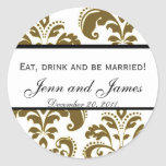 Custom Wedding Sticker Eat, Drink, and be Married
