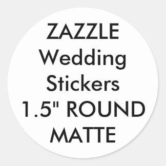 "Custom Wedding Stickers 1.5"" ROUND MATTE (20 pk.)"