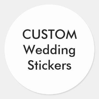 "Custom Wedding Stickers 3"" ROUND GLOSSY (6 pk.)"