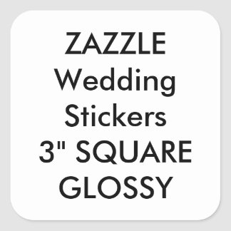 "Custom Wedding Stickers 3"" SQUARE GLOSSY (6 pk.)"