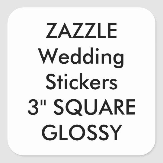 Custom Wedding Stickers 3 Square Glossy 6