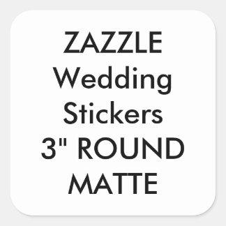 "Custom Wedding Stickers 3"" SQUARE MATTE (6 pk.)"