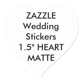 Custom Wedding Stickers HEART MATTE (20 pk.)