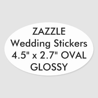 Custom Wedding Stickers OVAL GLOSSY (4 pk.)
