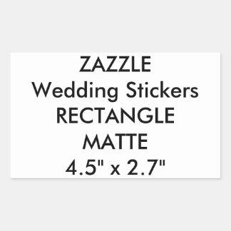Custom Wedding Stickers RECTANGLE MATTE (4 pk.)