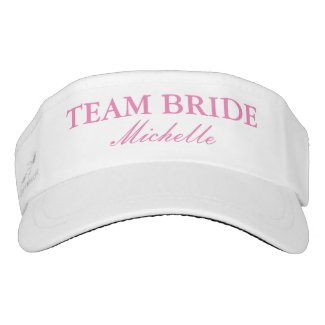 Custom wedding sun visor cap hats for team bride