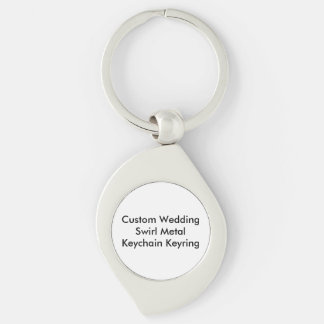 Custom Wedding  Swirl Metal Keychain Keyring