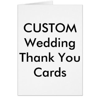 """Custom Wedding Thank You Cards 4"""" x 5.6"""""""
