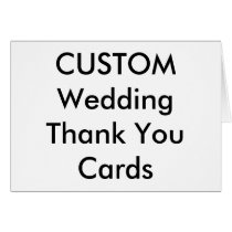 "Custom Wedding Thank You Cards 5.6"" x 4"""