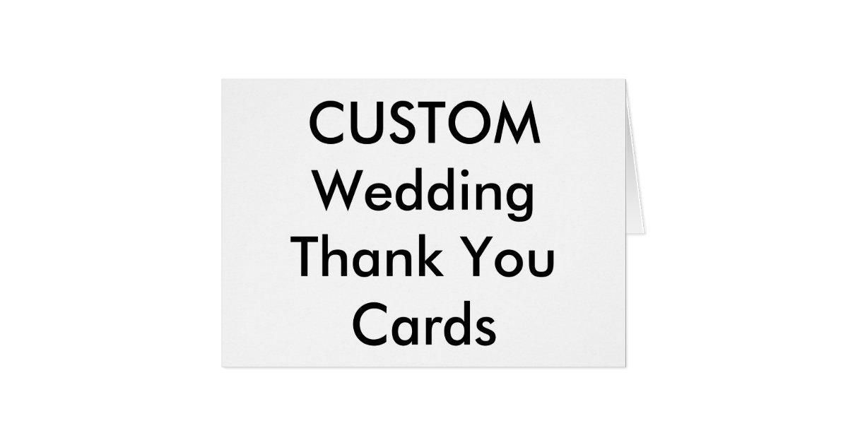 custom wedding thank you cards 5 6 x 4 zazzle