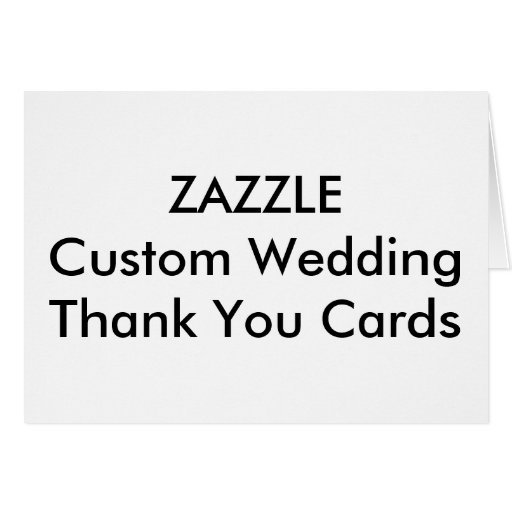 Custom Wedding Thank You Cards   Note Card Zazzle
